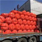 80×110组合夹网塑料浮筒 水电站拦漂排