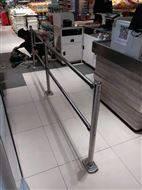 超市收銀通道入口擋門器護欄超市單向門欄桿