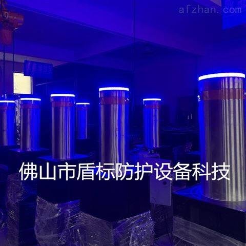 景區防撞電動升降柱大門升降器帶燈路障柱