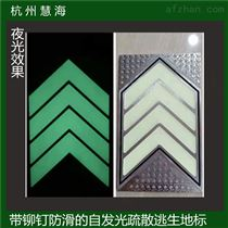 杭州地铁夜光不锈钢导向标识,应急逃生