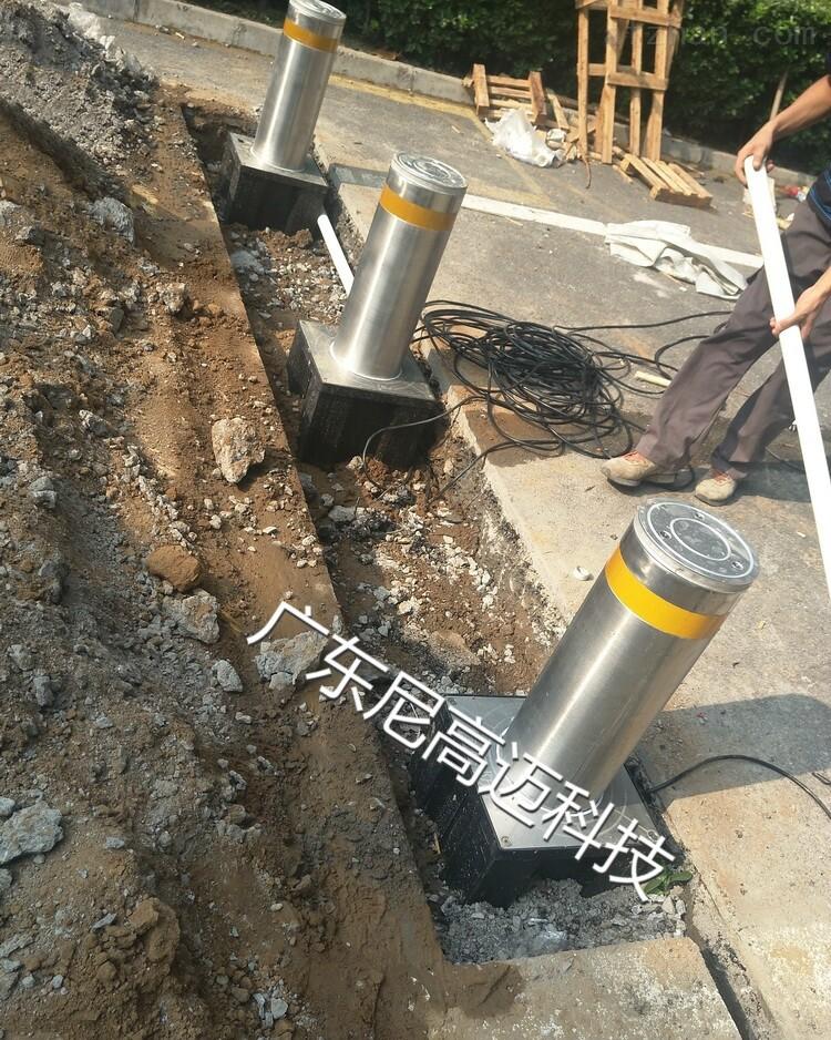 北京八宝山车道电子升降停车液压柱