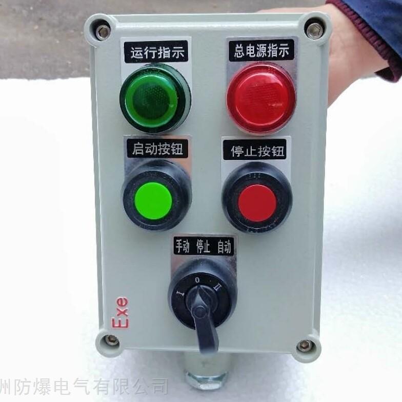 防爆操作柱两灯两钮一转换防爆接线箱