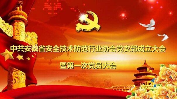 中共安徽省安全技术防范行业协会党支部成立大会召开