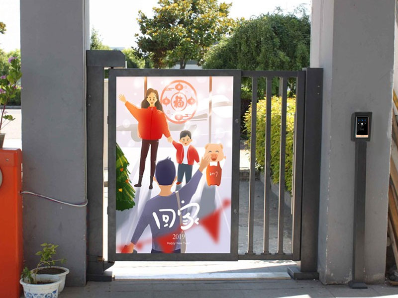 二维码门禁应用在广告门上